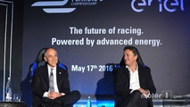 Alejandro Agag, CEO Formula E, Francesco Starace, CEO General Manager Enel Group
