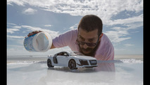 Audi R8 scale model photo shoot