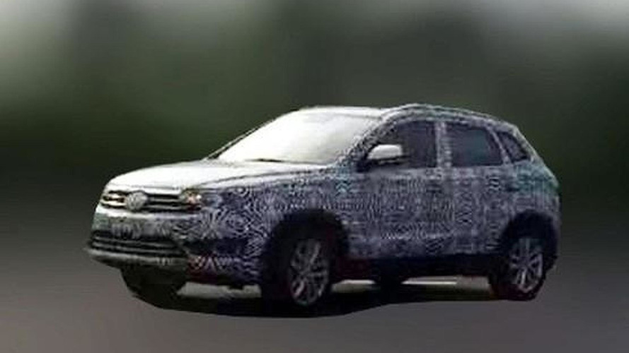 Mysterious VW SUV prototype spied in China