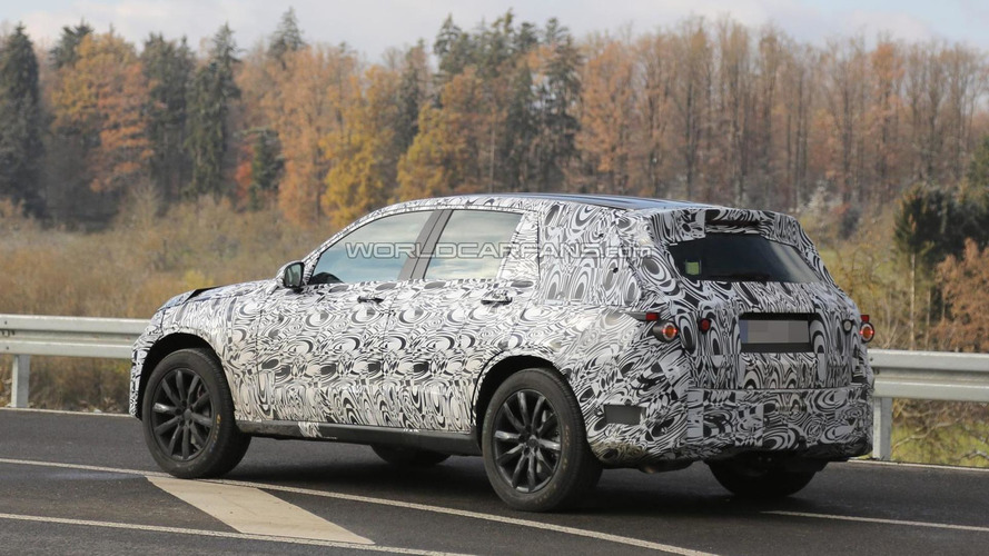 2015 Mercedes-Benz GLK spied up close in Germany with stretched wheelbase