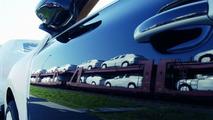 Porsche Cayenne Shipped by rail