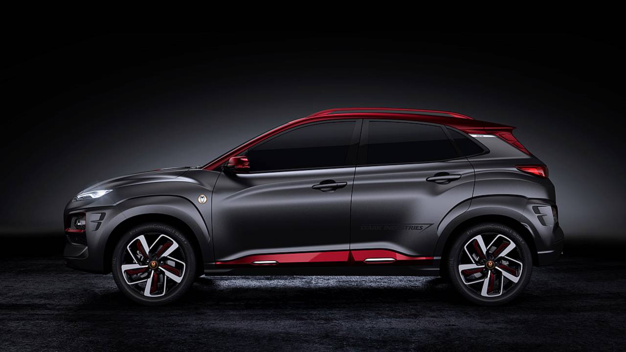 Hyundai San Diego >> Hyundai Kona Gets Iron Man-Inspired Makeover