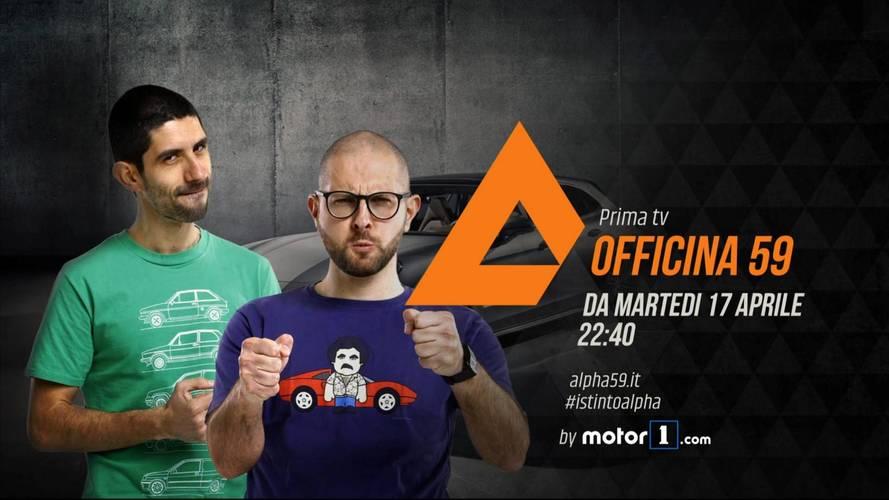 Officina 59 by Motor1.com, stasera su Alpha, canale 59 DTT