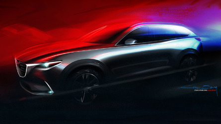 Mazda cx 9 news and opinion motor1 all new mazda cx 9 teased ahead of los angeles auto show reveal thecheapjerseys Choice Image