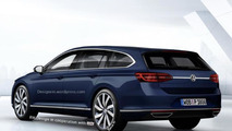 Volkswagen CC Shooting Brake speculatively rendered
