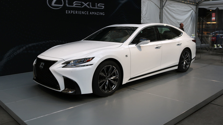 2018 lexus 4 door. perfect lexus 2018 lexus ls 500 f sport is a more aggressive luxury sedan and lexus 4 door