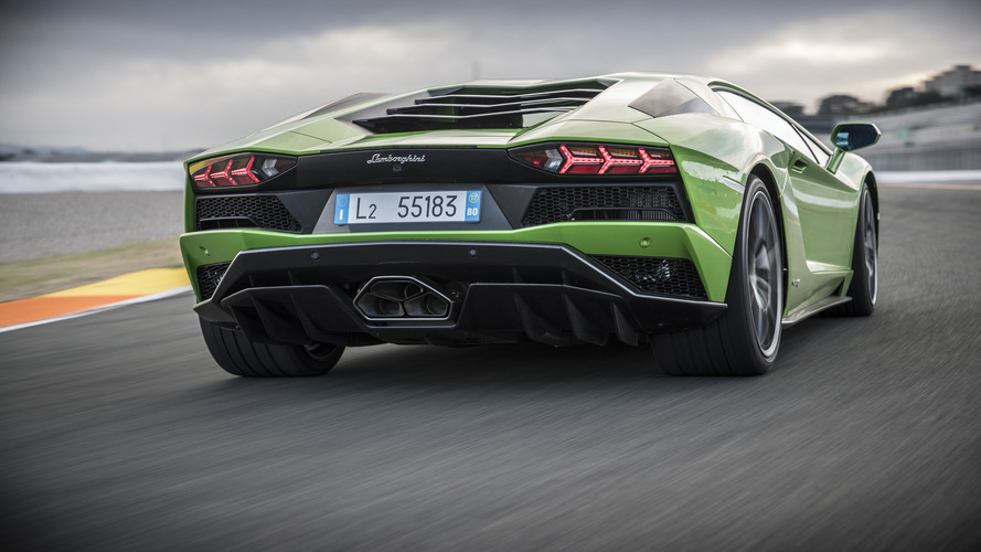 lamborghini aventador spy photos suggest hotter version is en route. Black Bedroom Furniture Sets. Home Design Ideas