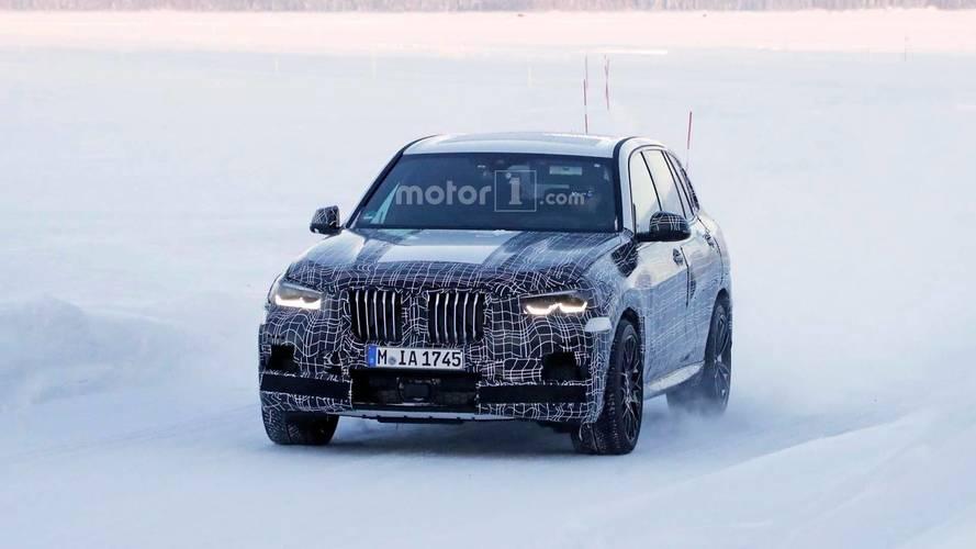 BMW X5 M karlar içinde görüntülendi