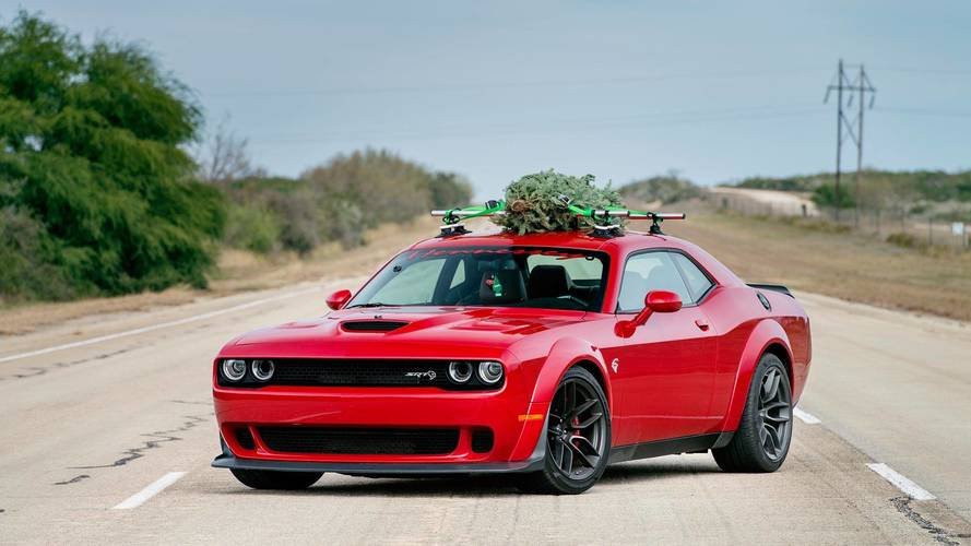 Hennessey Dodge Challenger Hellcat Widebody Hauls Christmas Tree