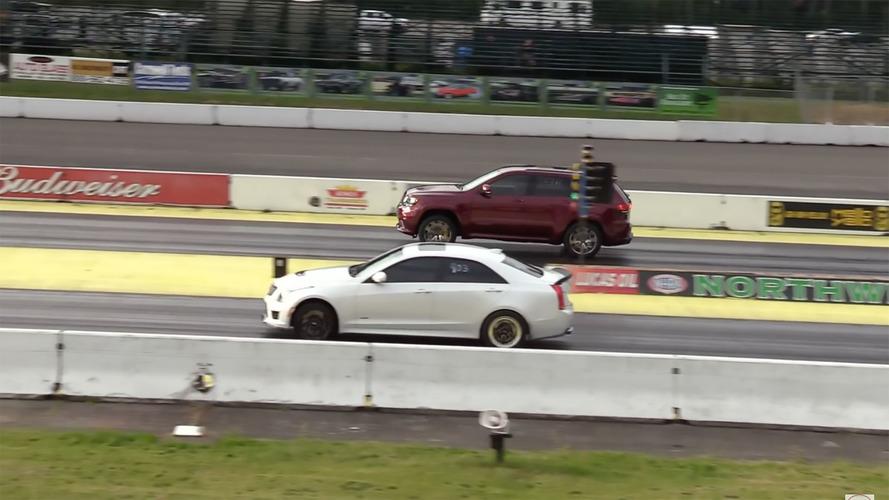 Jeep Grand Cherokee Trackhawk Drag Races Cadillac ATS-V