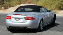 Jaguar XK convertible facelift spy photo