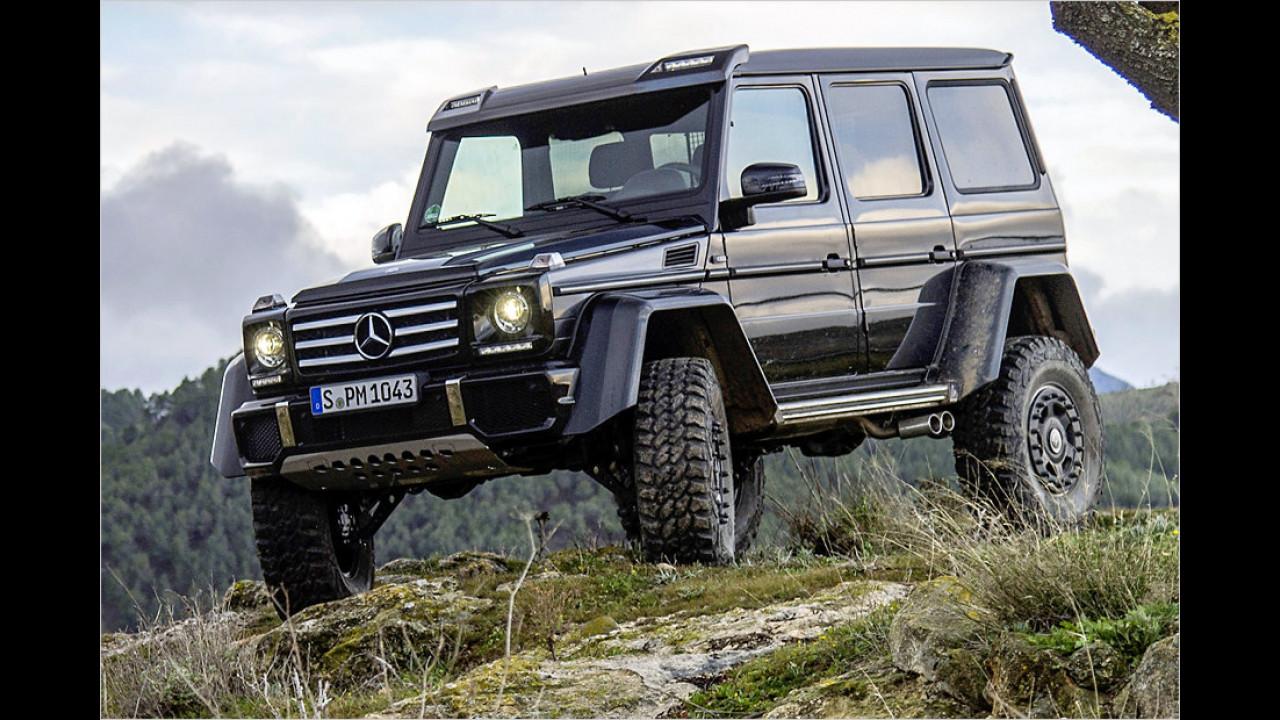 Höchstes Leergewicht: Mercedes G 500 4x4², 3.021 Kilogramm