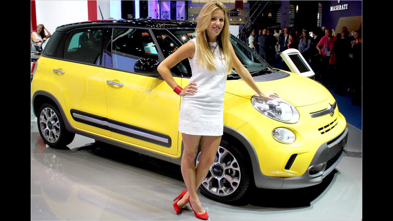 Na, so ein cooler neuer Fiat, da wären wir auch stolz drauf