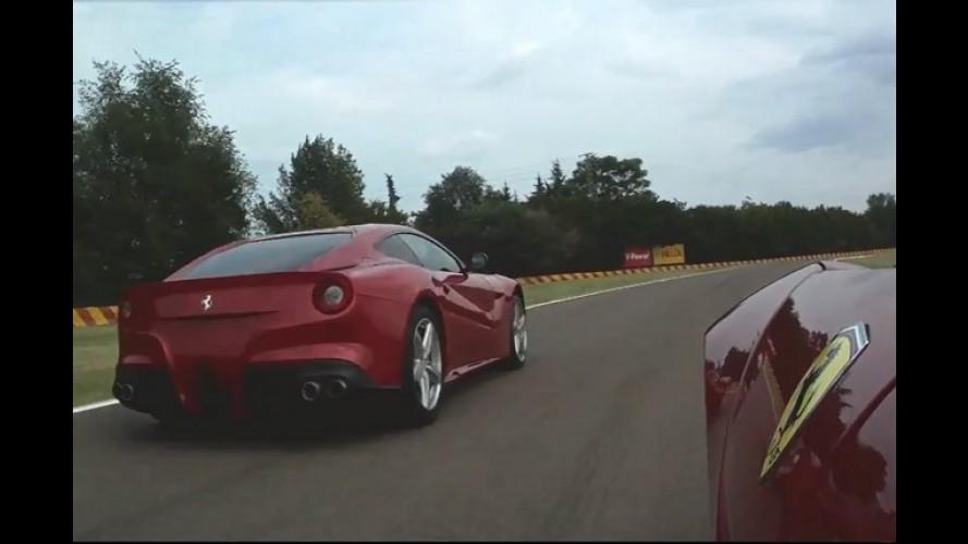 Vídeo: Massa e Alonso testam a Ferrari F12Berlinetta