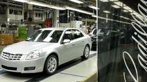 First Cadillac BLS Rolls of Production Line