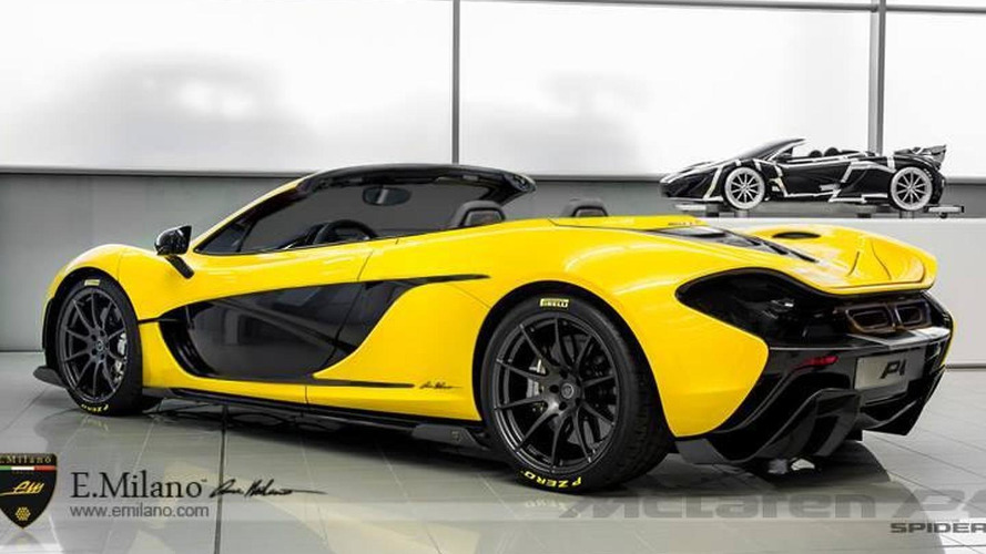 McLaren P1 gets rendered in a Spider version