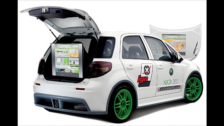 Rundum durchgeknallt: Im Suzuki SXBox pulsieren die Pixel