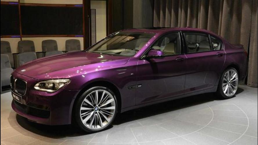 BMW Serie 7, ad Abu Dhabi la vedono viola