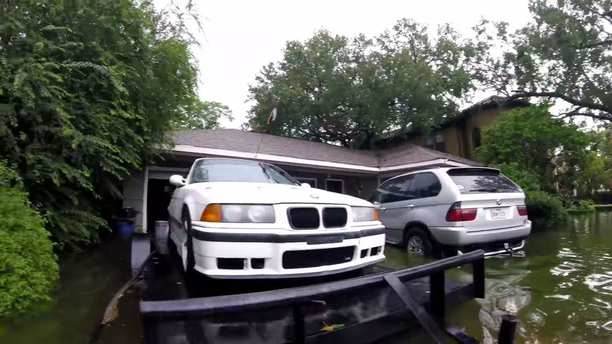 BMW M3s Saved From Harvey Flooding With Jack And Bricks