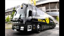 Teambusse mit Namen