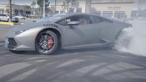Watch this couple drift a Lamborghini Huracan around a dealer lot