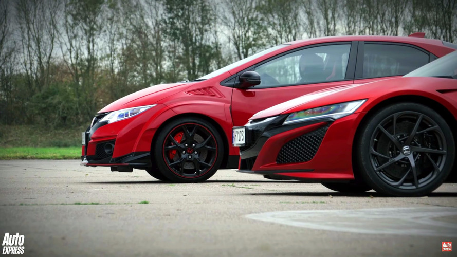 Is the Civic Type R faster than the NSX with a head-start?