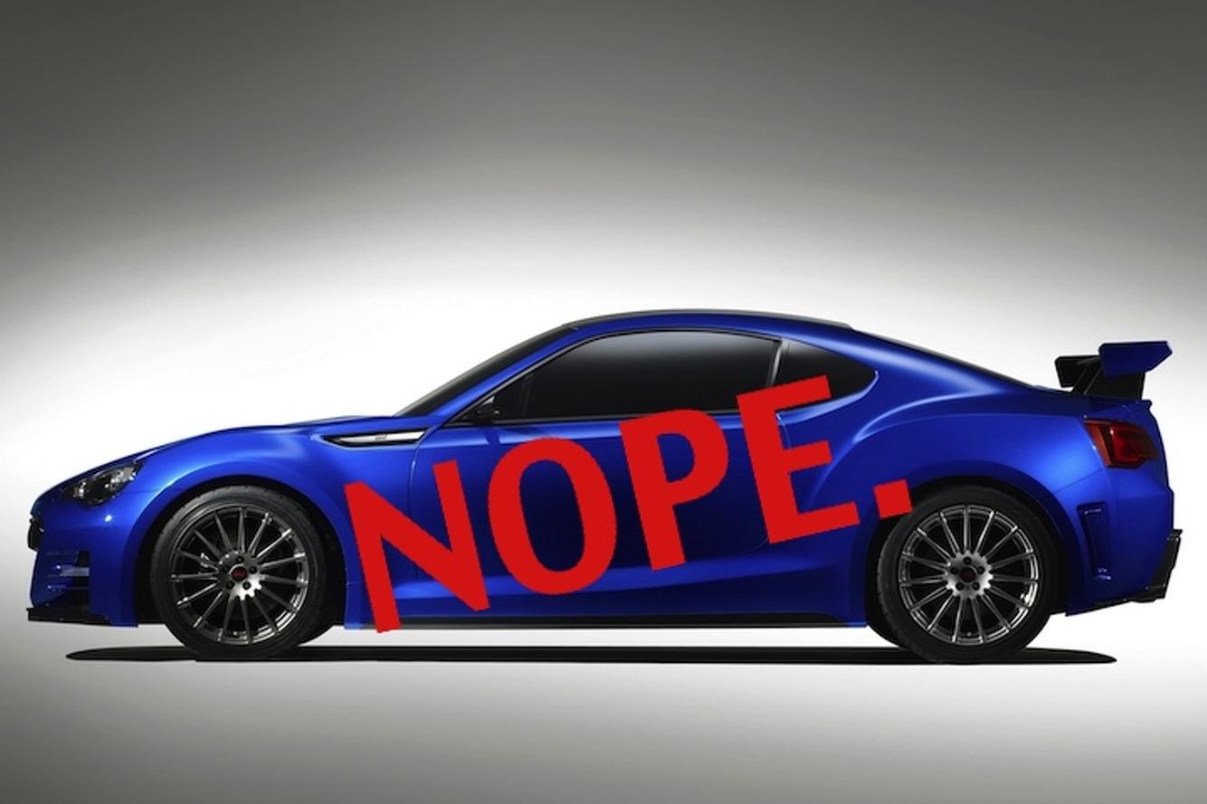 No Scion FR-S Turbo Probably Means No BRZ STI