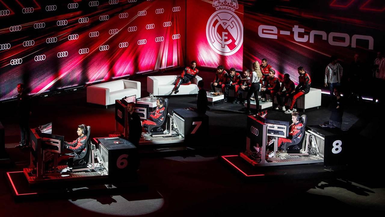 Les joueurs du Real Madrid sur simulateur de Formule E