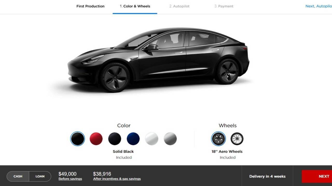 Tesla Model 3 Config