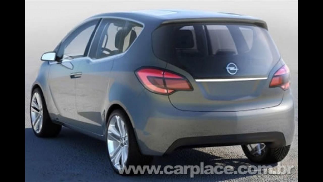 Nova Opel Meriva - Divulgadas imagens do protótipo que estará em Genebra