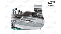 Mercedes W07 top exits, Hungarian GP