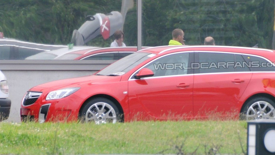 Opel Insignia OPC Sport Tourer Caught Uncovered