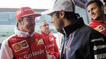 Felipe Massa (BRA) with Fernando Alonso (ESP) / XPB