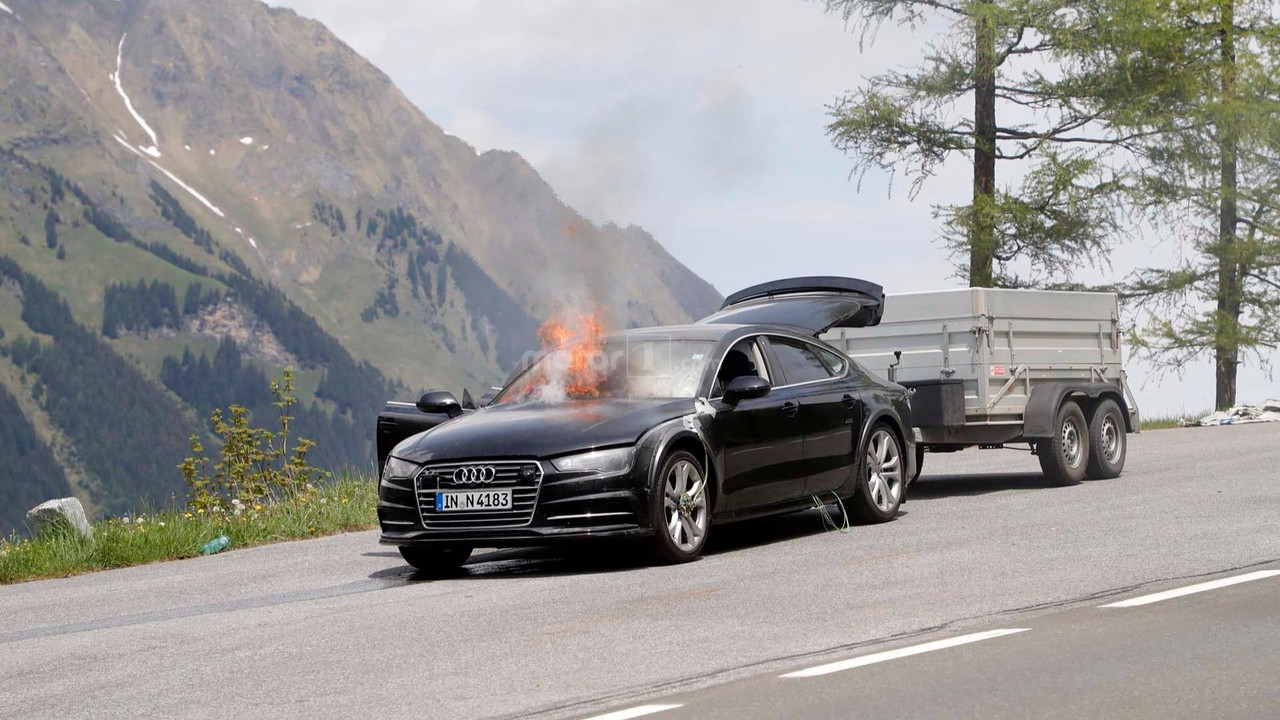 2019 audi a7 test car spied breathing fire in the alps. Black Bedroom Furniture Sets. Home Design Ideas
