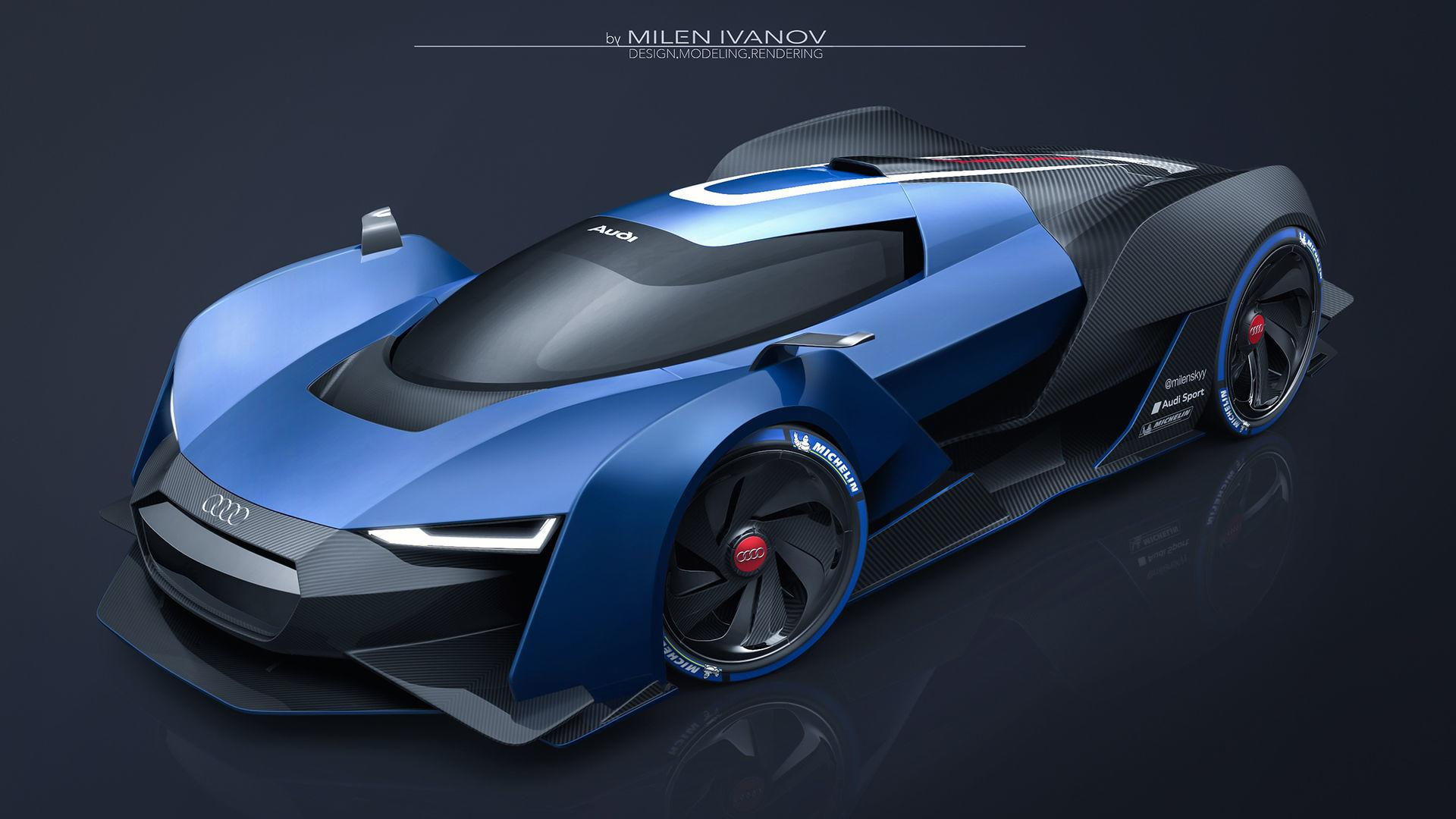 Audi Rs Concept Blends Racing Cues With Supercar Looks
