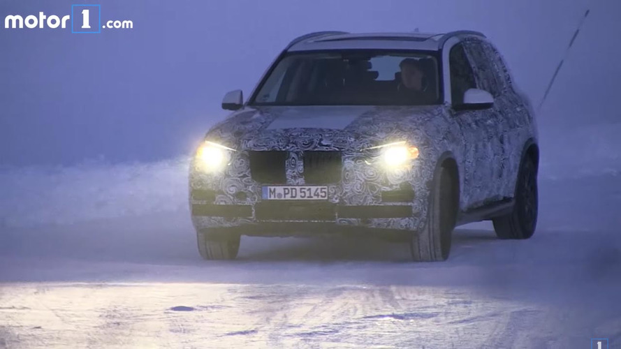 Future BMW X5 Spied On Video Sliding In The Snow