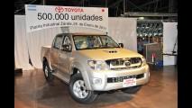 Toyota Mercosul comemora marca de 500.000 veículos produzidos