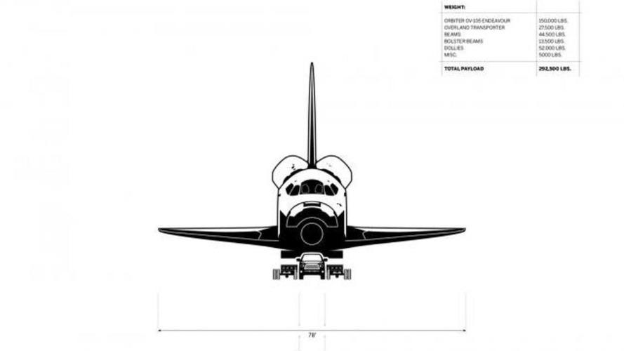 Le Toyota Tundra tracte la navette spatiale