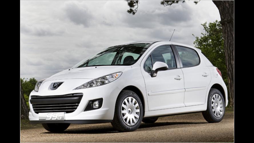 Umweltfreundlicher Kleiner: Peugeot 207 99G