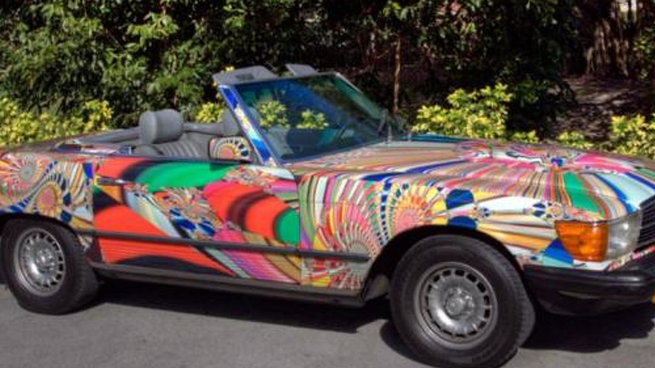 1982 Mercedes-Benz 380 SL 'Psychedelic Drive' by Laurence Gartel