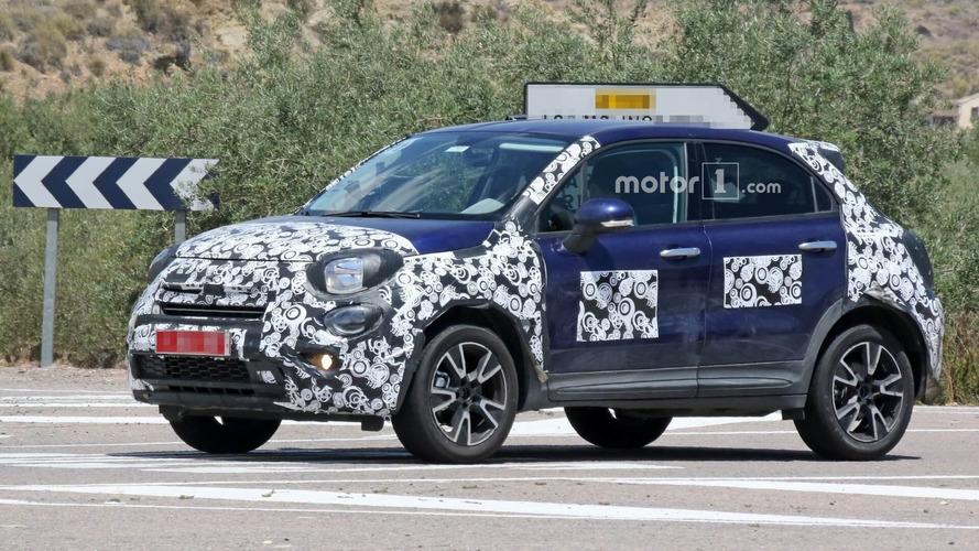 Fiat 500X Caught Hiding Minor Facelift Underneath Funky Camo
