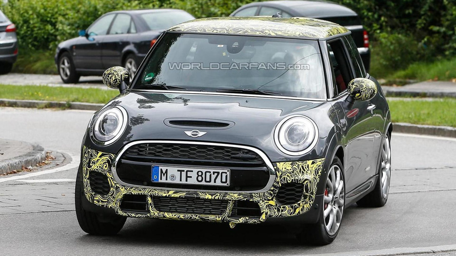 2015 MINI Cooper JCW spied lightly camouflaged