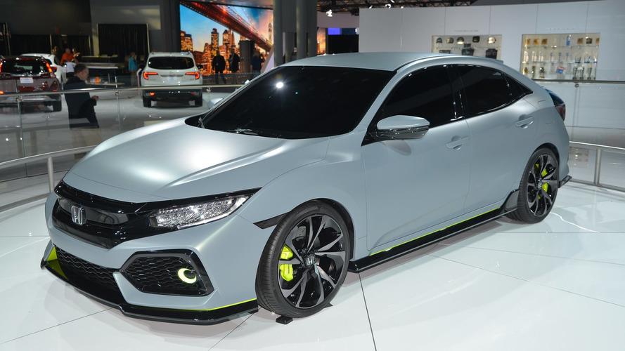 Honda Civic Hatchback prototype hits New York