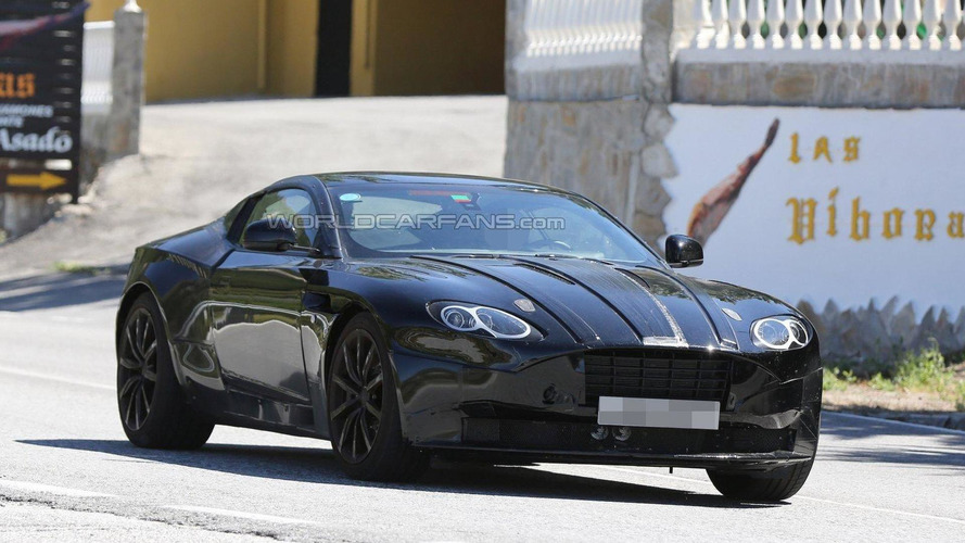 Aston Martin DB11 spied inside and out