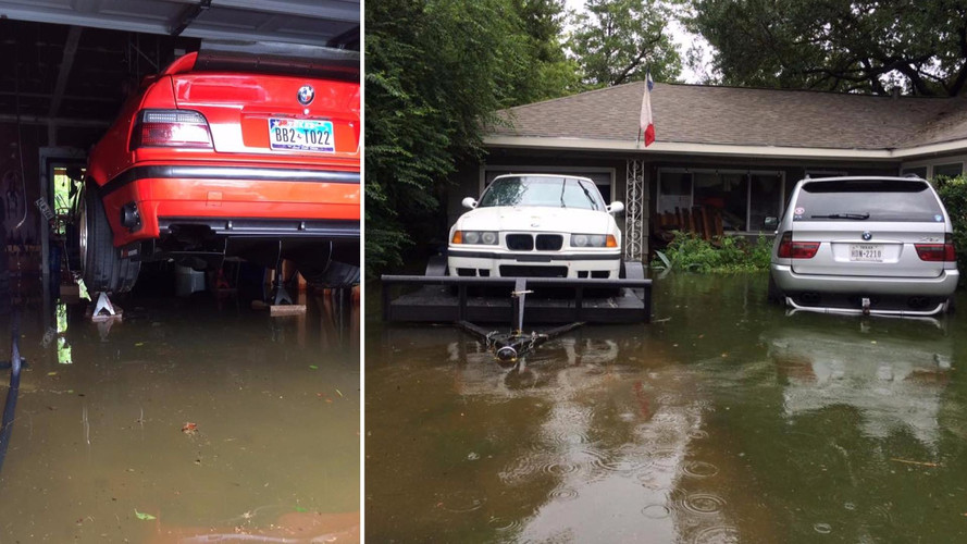 VIDÉO - Il sauve brillamment ses BMW M3 de l'ouragan Harvey