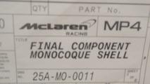McLaren MP4-25 monocoque shell teaser - 27.01.2010