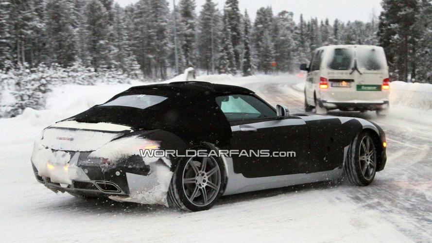 Mercedes SLS AMG Roadster First Spy Photos Winter Testing