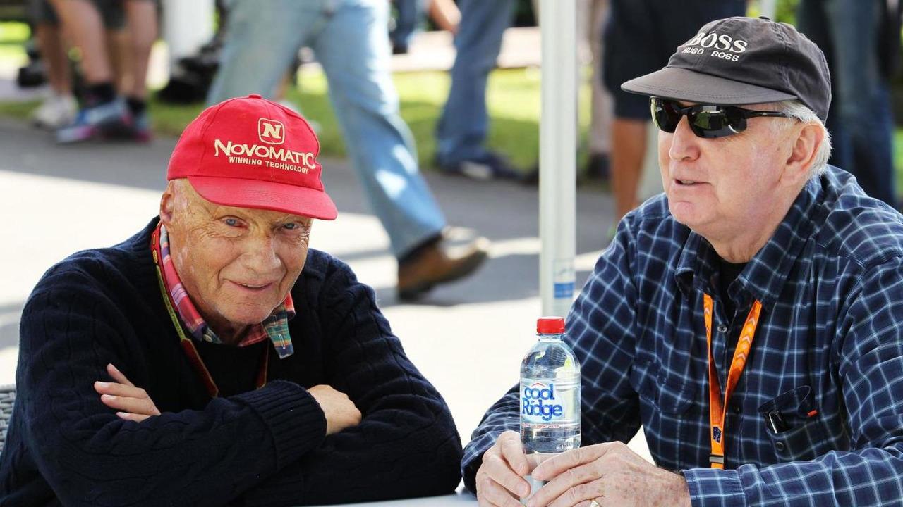 Niki Lauda (AUT) with John Watson (GBR), 14.03.2014, Australian Grand Prix, Albert Park, Melbourne / XPB
