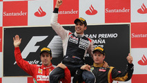Pastor Maldonado with Fernando Alonso and Kimi Raikkonen 13.05.2012 Spanish Grand Prix