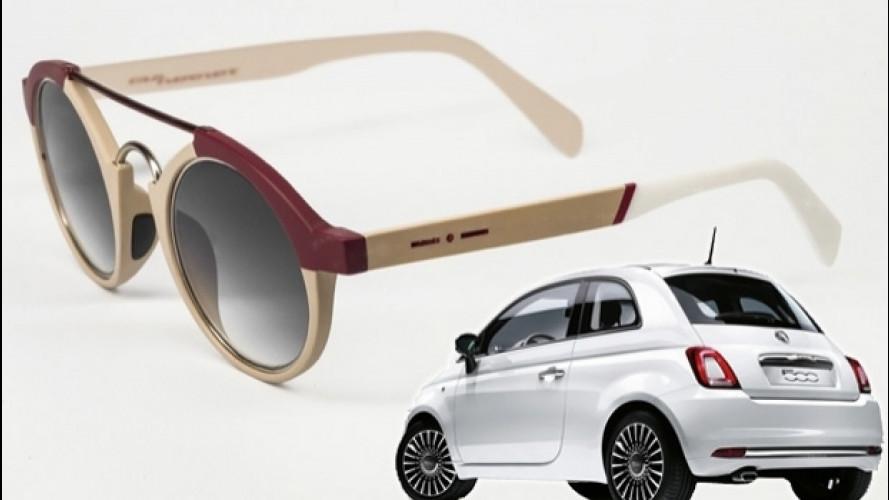 Fiat 500, la citycar si fa... occhiali da sole